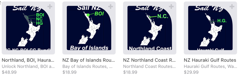 Sail New Zealand In App Purchase Screen Shot